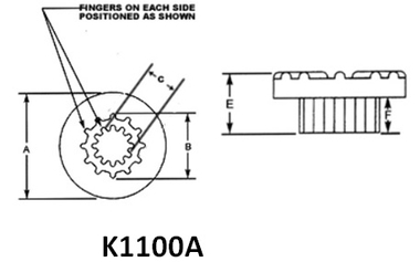 K1100 Series Flex Mounts (small) / K1130A32